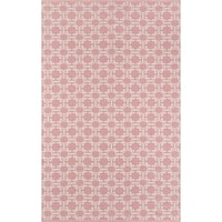 Madcap Cottage by Momeni 'Palm Beach Via Mizner' Pink Indoor/Outdoor Rug