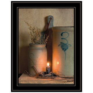 """""""No. 3 Bee Sting"""" on a crock by Susan Boyer, Ready to Hang Framed Print, Black Frame"""