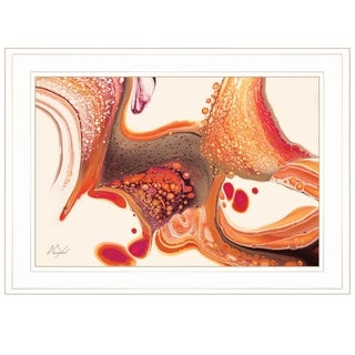 """Below the Surface"" by Nancy Wood, Ready to Hang Framed Print, White Frame"