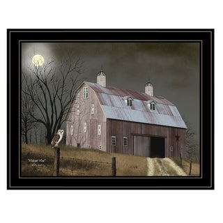 """""""Midnight Moon"""" by Billy Jacobs, Ready to Hang Framed Print, Black Frame"""