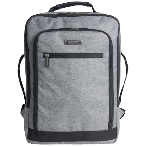 Kenneth Cole Reaction Heathered Polyester RFID 17-inch Laptop Business Backpack