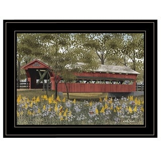 """Pottersburg Bridge"" by Billy Jacobs, Ready to Hang Framed Print, Black Frame"