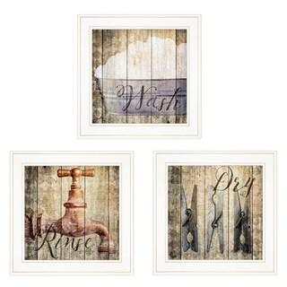 """""""Wash"""" 3-Piece Vignette by Misty Michelle, White Frame"""