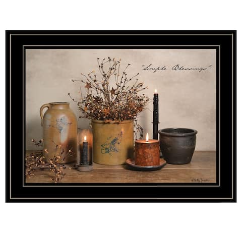 """Simple Blessings"" by Billy Jacobs, Ready to Hang Framed Print, Black Frame"