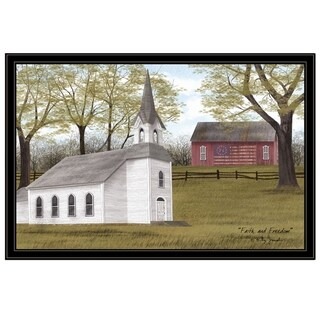 """""""Faith and Freedom"""" by Billy Jacobs, Ready to Hang Framed Print, Black Frame"""