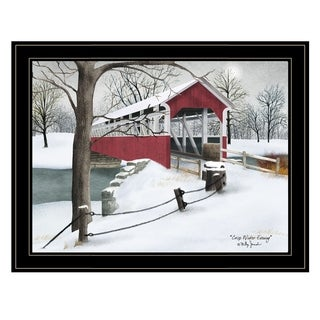 """Crisp Winter Evening"" by Billy Jacobs, Ready to Hang Framed Print, Black Frame"