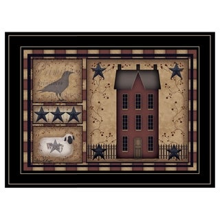 """Primitive, Ready to Hang Framed Print, Black Frame"
