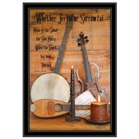 """""""Music"""" by Billy Jacobs, Ready to Hang Framed Print, Black Frame"""