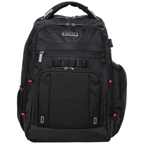 Kenneth Cole Reaction Dual Compartment Polyester Anti-Theft RFID 15.6-inch Laptop Business Backpack W/ USB Charging Port