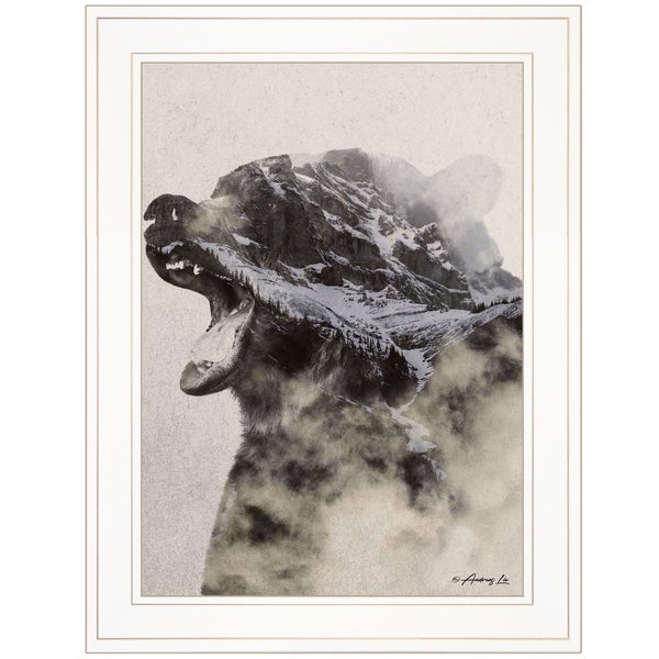 """Bear Fog"" by Andreas Lie, Ready to Hang Framed Print, White Frame"