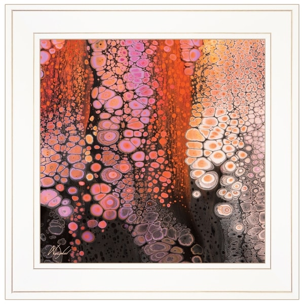 """""""Lava Flow"""" by Nancy Wood, Ready to Hang Framed Print, White Frame"""