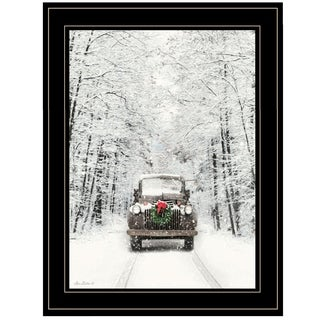 """""""Antique Christmas"""" by Lori Deiter, Ready to Hang Framed Print, Black Frame"""