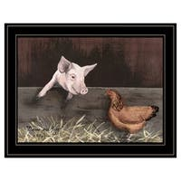 """""""Bacon & Eggs"""" by Billy Jacobs, Ready to Hang Framed Print, Black Frame"""