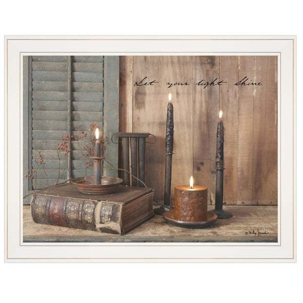 """""""Let Your Light Shine"""" by Billy Jacobs, Ready to Hang Framed Print, White Frame"""