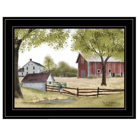 """The Old Spring House"" by Billy Jacobs, Ready to Hang Framed Print, Black Frame"