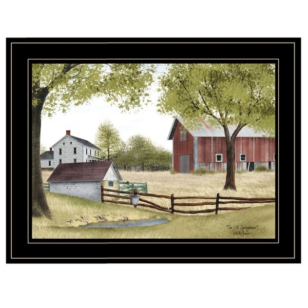 """""""The Old Spring House"""" by Billy Jacobs, Ready to Hang Framed Print, Black Frame"""