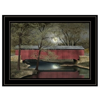 """""""Warm Summer's Eve"""" by Billy Jacobs, Ready to Hang Framed Print, Black Frame"""