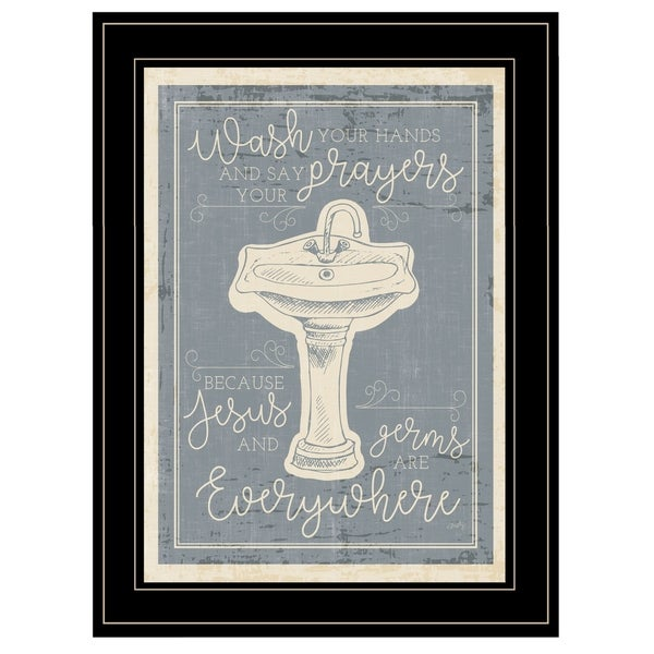 """Wash Your Hands"" by Misty Michelle, Ready to Hang Framed Print, Black Frame"