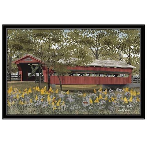 """Pottersburg Bridge"" by Billy Jacobs, Ready to Hang Framed Print, Black Frame"