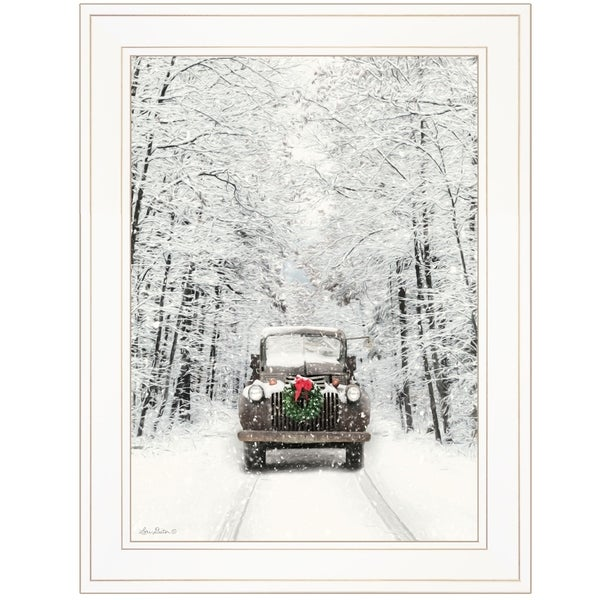 """""""Antique Christmas"""" by Lori Deiter, Ready to Hang Framed Print, White Frame"""