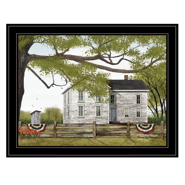 """Sweet Summertime House"" by Billy Jacobs, Ready to Hang Framed Print, Black Frame"