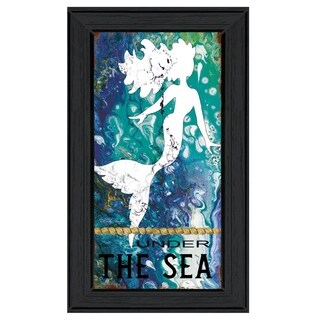 """""""Under the Sea"""" by Cindy Jacobs, Ready to Hang Framed Print, Black Frame"""