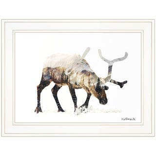 """""""Arctic Reindeer"""" by Andreas Lie, Ready to Hang Framed Print, White Frame"""