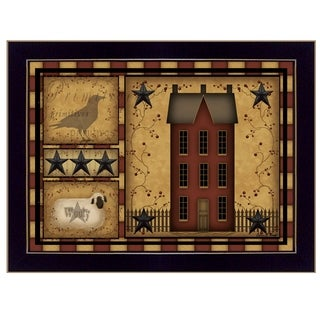 """Primitive Shadowbox"" by Carrie Knoff, Ready to Hang Framed Print, Black Frame"