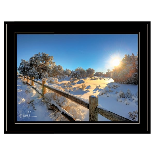 """""""Snow Covered II"""" by Dale MacMillan, Ready to Hang Framed Print, Black Frame"""
