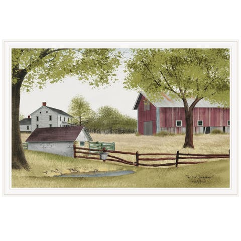 """""""The Old Spring House"""" by Billy Jacobs, Ready to Hang Framed Print, White Frame"""