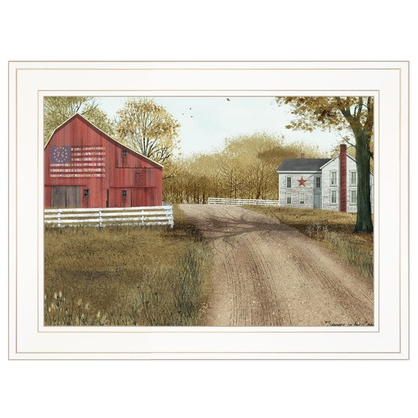 """""""Summer in the Country"""" by Billy Jacobs, Ready to Hang Framed Print, White Frame"""