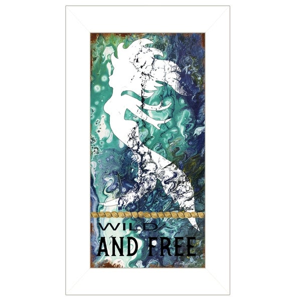 """""""Wild and Free"""" by Cindy Jacobs, Ready to Hang Framed Print, White Frame"""