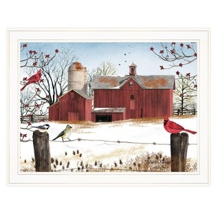 """Winter Friends"" by Billy Jacobs, Ready to Hang Framed Print, White Frame"