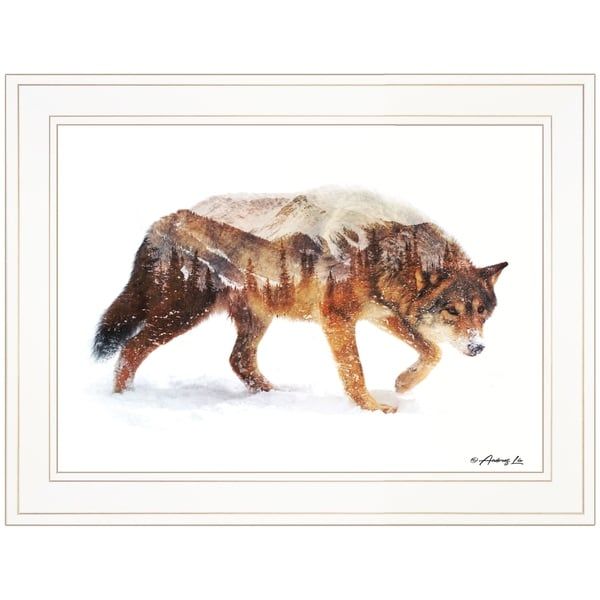 """""""Arctic Wolf"""" by Andreas Lie, Ready to Hang Framed Print, White Frame"""