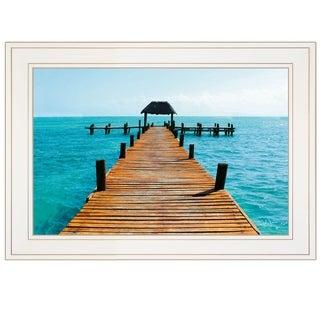 """""""Pier"""" by John Jones, Ready to Hang Framed Print, White Frame"""