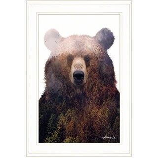 """""""King of the Forest"""" by Andreas Lie, Ready to Hang Framed Print, White Frame"""