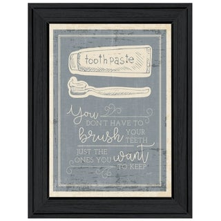 """""""Brush Teeth"""" by Misty Michelle, Ready to Hang Framed Print, Black Frame"""