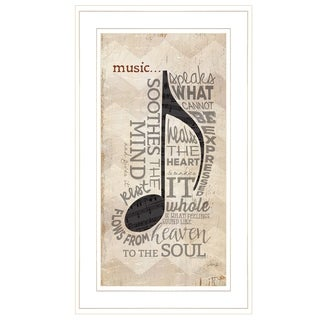 """""""Music"""" by Marla Rae, Ready to Hang Framed Print, White Frame"""