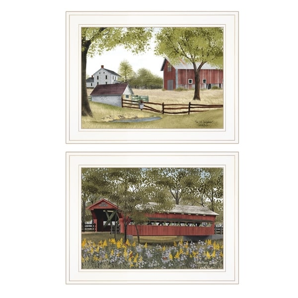 """""""The Spring House"""" 2-Piece Vignette by Billy Jacob, White Frame"""