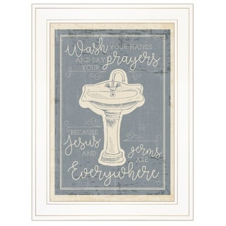 """""""Wash Your Hands"""" by Misty Michelle, Ready to Hang Framed Print, White Frame"""