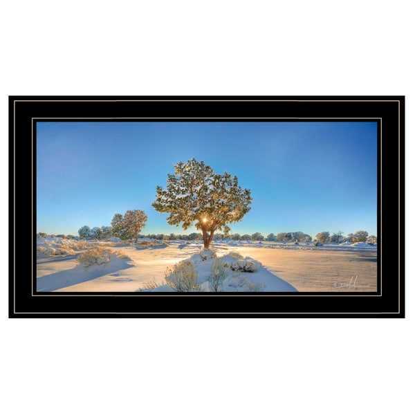 """""""Snow Covered III"""" by Dale MacMillan, Ready to Hang Framed Print, Black Frame"""