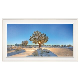 """Snow Covered III"" by Dale MacMillan, Ready to Hang Framed Print, White Frame"