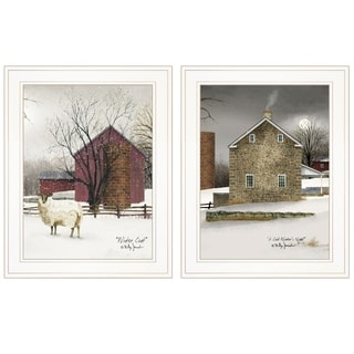 """Cold Winter"" 2-Piece Vignette by Billy Jacobs, White Frame"