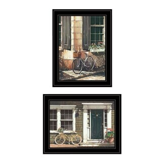 """A Picnic Getaway"" 2-Piece Vignette by John Rossini, Black Frame"
