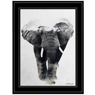"""Elephant Walk"" by Andreas Lie, Ready to Hang Framed Print, Black Frame"