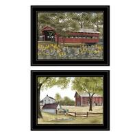 """""""The Spring House"""" 2-Piece Vignette by Billy Jacob, Black Frame"""