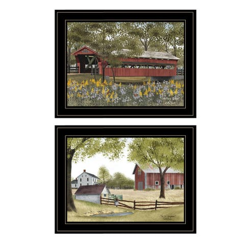 """The Spring House"" 2-Piece Vignette by Billy Jacob, Black Frame"