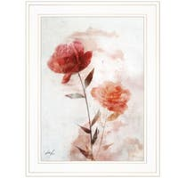 """Roses are Red I"" by Ken Roko, Ready to Hang Framed Print, White Frame"