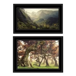 """""""The Land of Hobbits"""" 2-Piece Vignette by Martin Podt, Black Frame"""