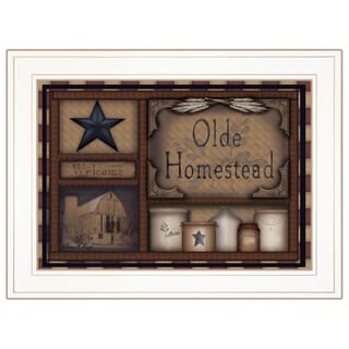 """Olde Homestead"" by Carrie Knoff, Ready to Hang Framed Print, White Frame"